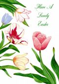 Easter Card-Tulips